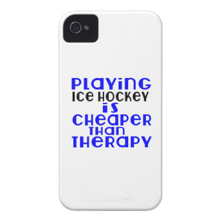 Playing Ice Hockey Cheaper Than Therapy iPhone 4 Cover