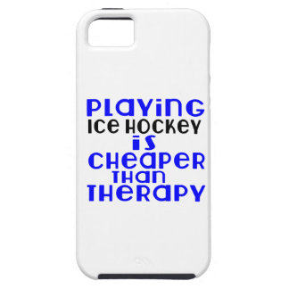 Playing Ice Hockey Cheaper Than Therapy iPhone 5 Cases