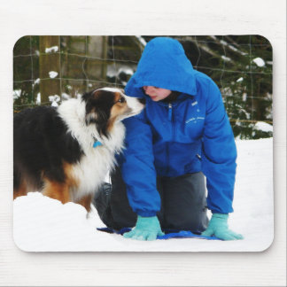 Playing in the Snow Mouse Pad