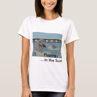 Playing in the Surf!  Women's T-Shirt