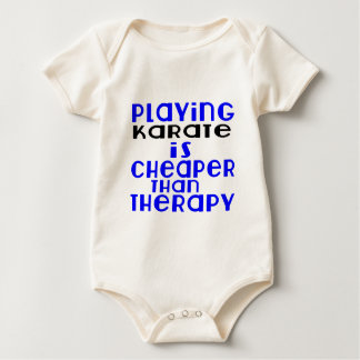 Playing Karate Cheaper Than Therapy Baby Bodysuit