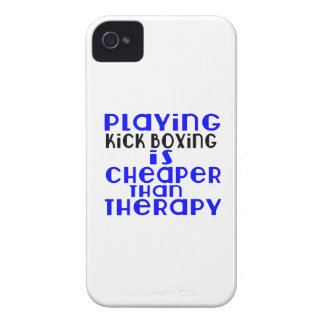 Playing Kick Boxing Cheaper Than Therapy iPhone 4 Cases
