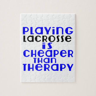 Playing Lacrosse Cheaper Than Therapy Jigsaw Puzzle