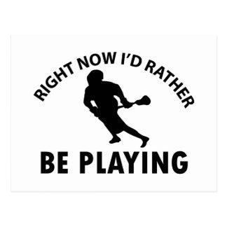 Playing  lacrosse postcard