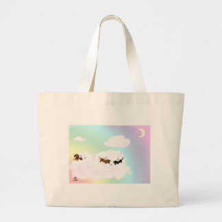 Playing Over The Rainbow Bridge Large Tote Bag