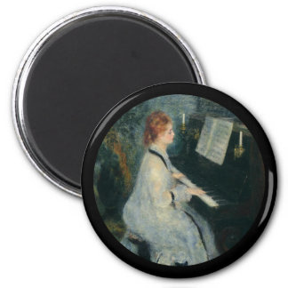 Playing Piano by Candlelight Magnet