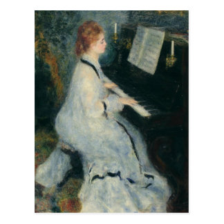 Playing Piano by Candlelight Postcard