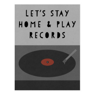 Playing Records Postcard