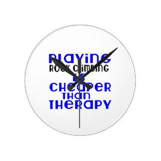 Playing Rock Climbing Cheaper Than Therapy Clock