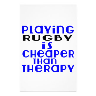 Playing Rugby Cheaper Than Therapy Stationery