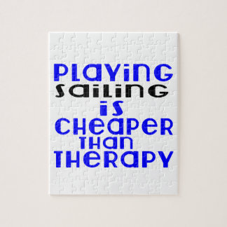 Playing Sailing Cheaper Than Therapy Jigsaw Puzzle