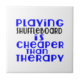 Playing Shuffleboard Cheaper Than Therapy Ceramic Tiles