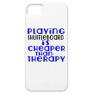 Playing Shuffleboard Cheaper Than Therapy iPhone 5 Covers