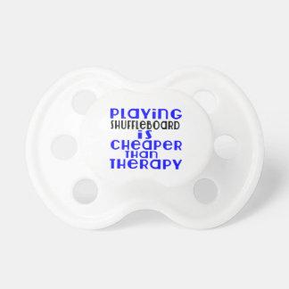 Playing Shuffleboard Cheaper Than Therapy Pacifier