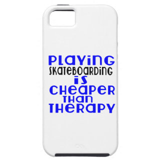 Playing Skateboarding Cheaper Than Therapy iPhone 5 Cover