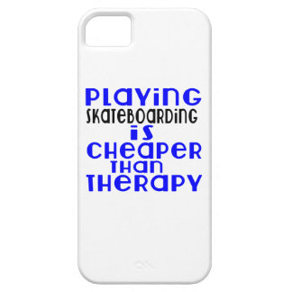 Playing Skateboarding Cheaper Than Therapy iPhone 5 Covers