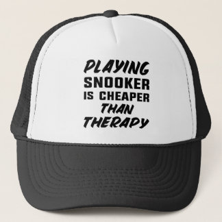 Playing Snooker is cheaper than therapy Trucker Hat