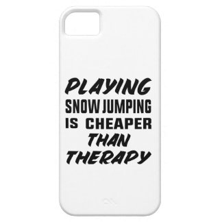 Playing Snow Jumping is cheaper than therapy iPhone 5 Case