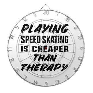 Playing Speed Skating is cheaper than therapy Dartboard