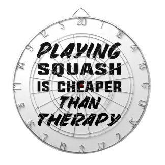 Playing Squash is cheaper than therapy Dartboard