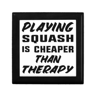 Playing Squash is cheaper than therapy Gift Box