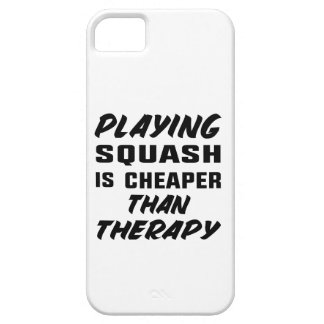 Playing Squash is cheaper than therapy iPhone 5 Covers