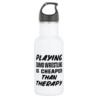 Playing Sumo Wrestling is cheaper than therapy 532 Ml Water Bottle