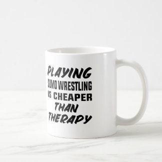 Playing Sumo Wrestling is cheaper than therapy Coffee Mug