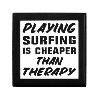 Playing Surfing is cheaper than therapy Gift Box