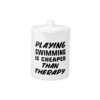 Playing Swimming is cheaper than therapy