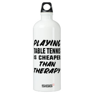 Playing Table Tennis is cheaper than therapy Water Bottle