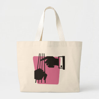 Playing the Bass Large Tote Bag
