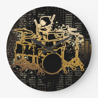 Playing the Drums Clock