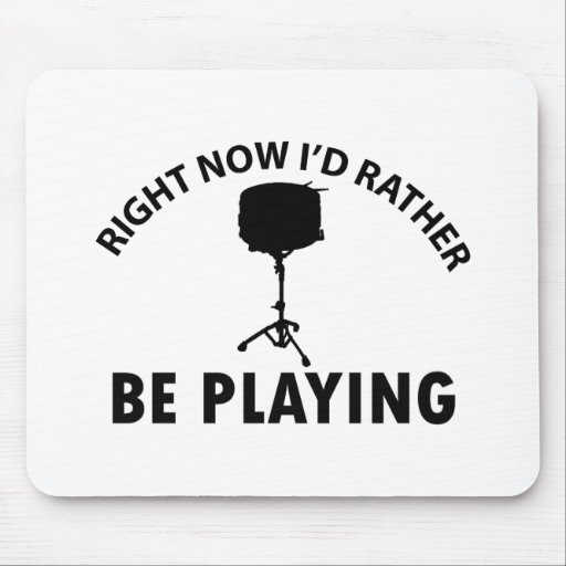 Playing the snare drum mousepads