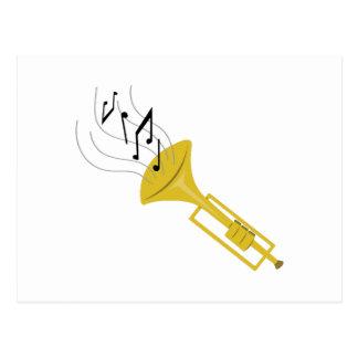 Playing Trumpet Postcard