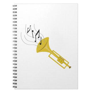 Playing Trumpet Spiral Notebook