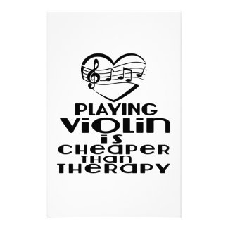 Playing Violin Is Cheaper Than Therapy Personalized Stationery