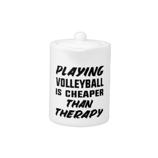 Playing Volleyball is cheaper than therapy