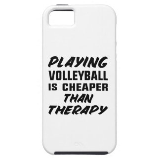 Playing Volleyball is cheaper than therapy iPhone 5 Case
