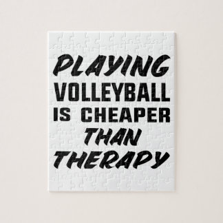 Playing Volleyball is cheaper than therapy Jigsaw Puzzle