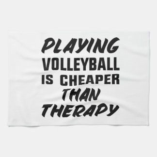 Playing Volleyball is cheaper than therapy Kitchen Towel