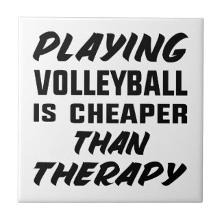 Playing Volleyball is cheaper than therapy Tile
