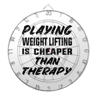 Playing Weight Lifting is cheaper than therapy Dartboard