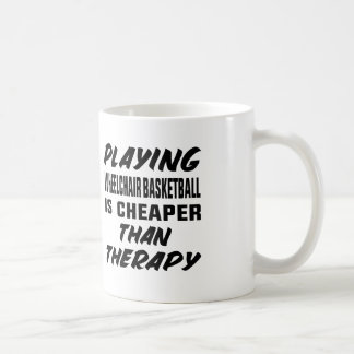 Playing Wheelchair basketball is cheaper than ther Coffee Mug