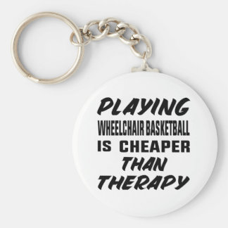 Playing Wheelchair basketball is cheaper than ther Keychain