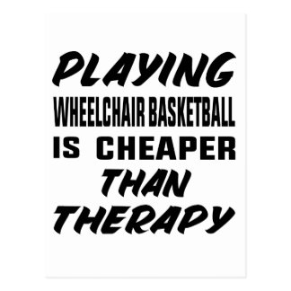 Playing Wheelchair basketball is cheaper than ther Postcard