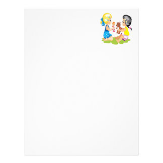Playing With Dolls Letterhead Template