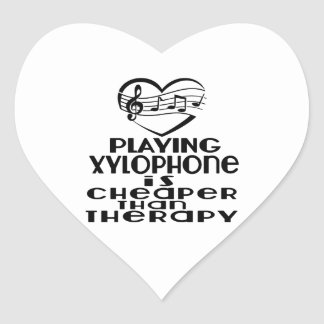 Playing Xylophone Is Cheaper Than Therapy Heart Sticker