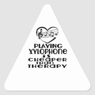 Playing Xylophone Is Cheaper Than Therapy Triangle Sticker