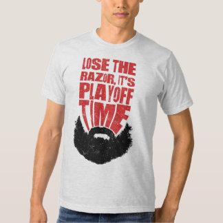 Playoff Beard Hockey T-Shirt, Name & Number Tshirt